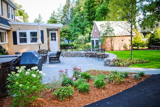 Belmont residence landscape construction