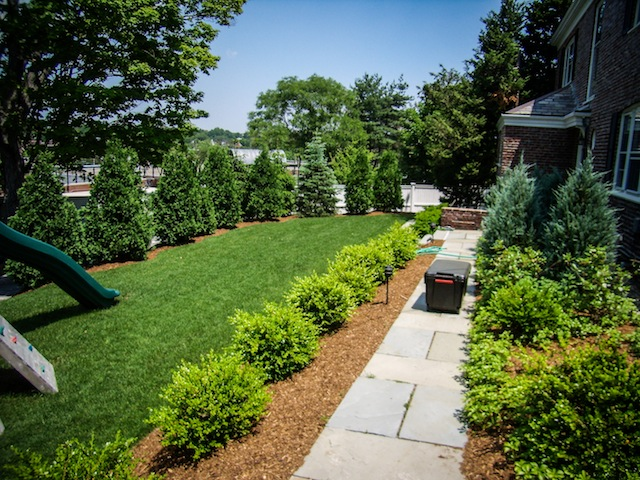 Brookline landscape construction